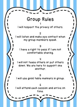 Counseling Group Rules