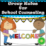 Counseling Group Rules Sign