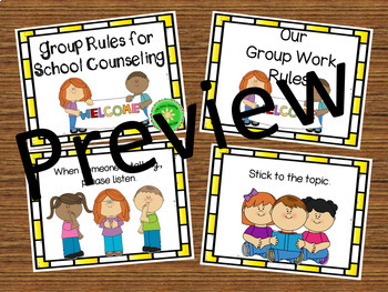 Counseling Office Signs Small Group Rules