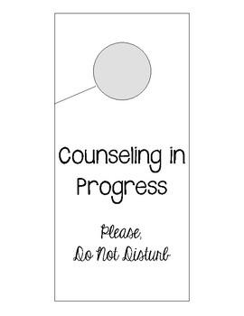 Counseling In Progress Door Hanger