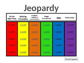 Counseling Jeopardy