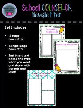 School Counseling Newsletter Template