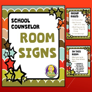 Counseling Office Signs Vintage
