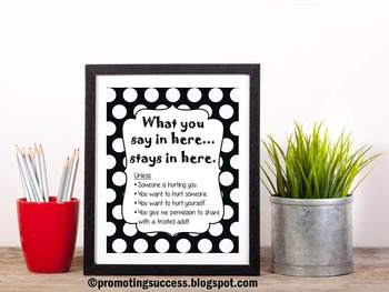 Confidentiality Rules School Counseling Office Decoration Gift Psychology