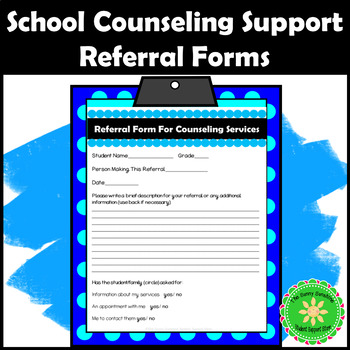 Request To See The Counselor Referral Form