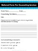 Referral Form for School Based Counseling Services