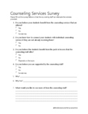 Counseling Services Survey for Teachers