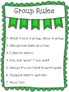 Counseling Small Group Rules