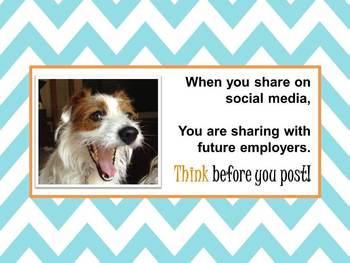 Counseling Social Media warning - printable wall sign