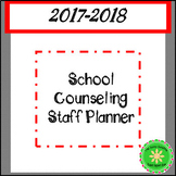 School Counselor Planner and Forms Simple Black