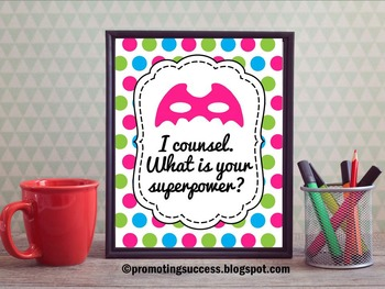 National School Counseling Week Gift Idea Counselor Superpower Quote Poster