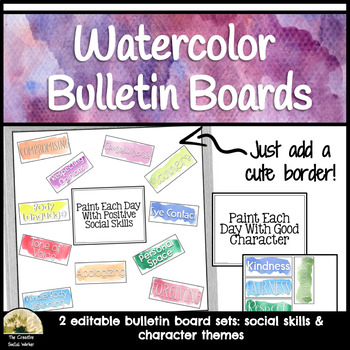 Counseling Watercolor Bulletin Board Set