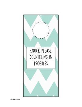 Counseling in Progress Door