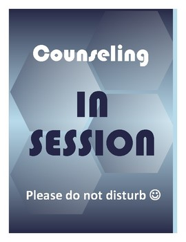 Counseling in session sign