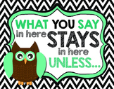 Counsellor Confidentiality Posters - Elementary
