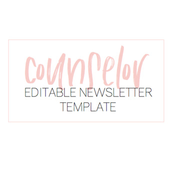 Counsellor Newsletter Template