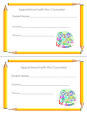 Counselor Appointment Card