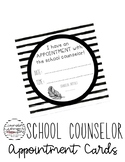 Counselor Appointment Cards {Black & White}