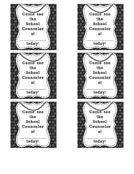 Counselor Appointment Cards - Circle