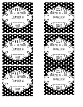 Counselor Appointment Cards - Polka