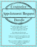 Counselor Appointment Request Half-page BUNDLE of 6 styles