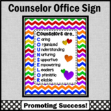Back to School Counselor Poster Appreciation Gift Counseling Office Decor