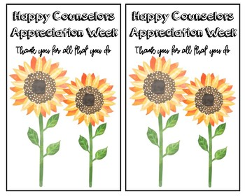 Counselor Appreciation Week Activities