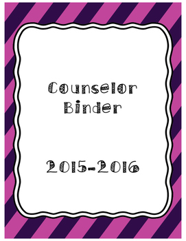 Counselor Binder Cover Page