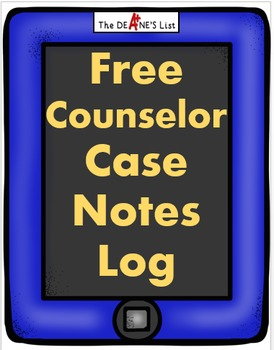 Counselor Case Notes Log