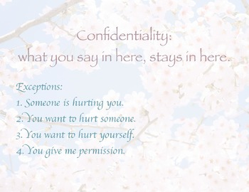 Counselor Confidentiality