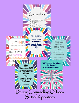 Counselor Decor Poster for your Door and Office SALE