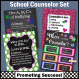 School Counselors Posters Set of 4, Confidentiality Sign, NOT EDITABLE