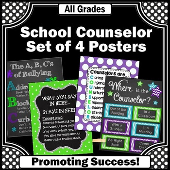 Where is the School Counselor Sign, Counseling Office Decor BUNDLE