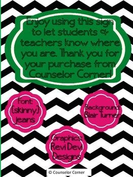 Counselor Door Sign {Original}