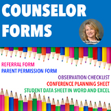 Editable Counselor Forms