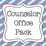 Counselor Office Pack with Calendar and Signs - Pink & Blue