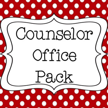 Counselor Office Bundle with Calendar and Signs - Red & Black