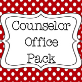Counselor Office Pack with Calendar and Signs - Red & Black