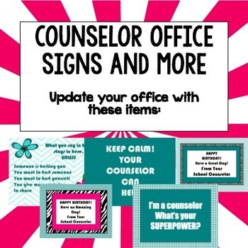School Counselor Office Makeover