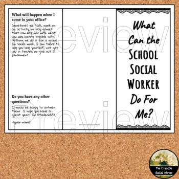 Counselor Open House/ Back to School Editable Brochure