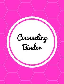Counselor Organizational Binder Inserts