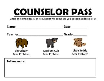 Counselor Pass: Visiting the Counselor