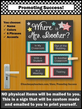 Personalized Custom Door Sign, End of Year Gifts, School Counselor, Principal