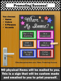 Custom Door Sign for Teacher Counselor Psychologist Person