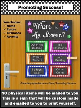 Custom Door Sign for Teacher Counselor Psychologist Person