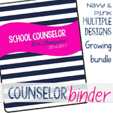 Counselor Binder Navy and Pink