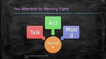 Counselor Presentation to Teachers Regarding Suicide