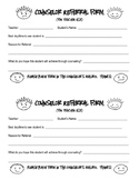 Counselor Referral Form for Teachers