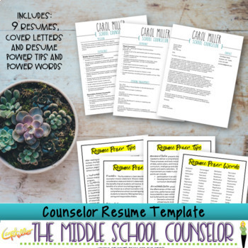 Counselor Resume Template Bundle
