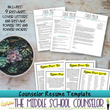 Counselor Resume Template Bundle